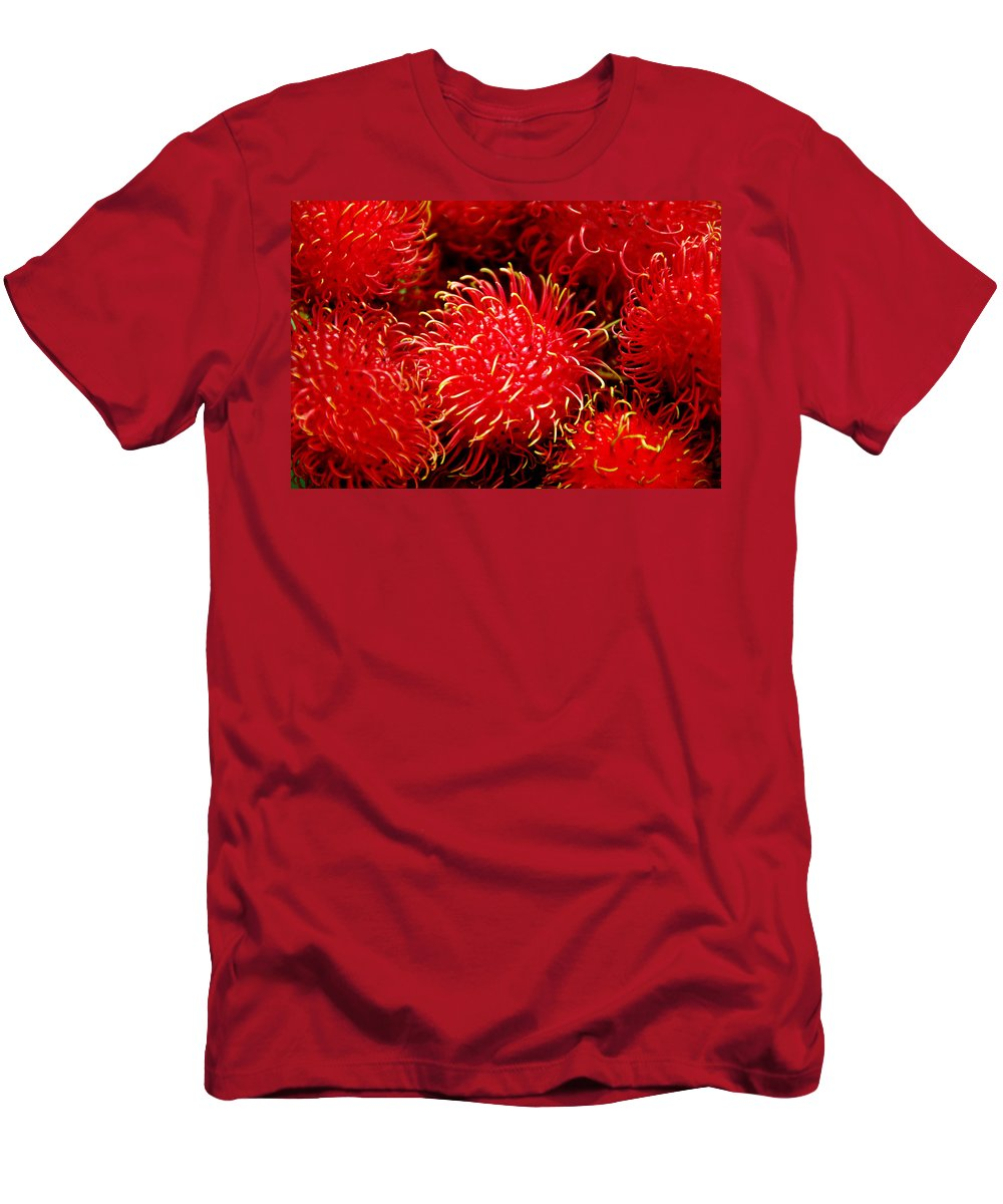 Rambutan Fruits Men's T-Shirt (Athletic Fit) featuring the photograph Rambutan by Dragica Micki Fortuna