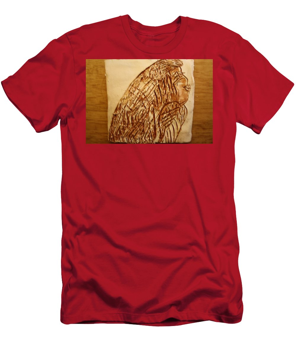 Jesus Men's T-Shirt (Athletic Fit) featuring the ceramic art Ready - Tile by Gloria Ssali