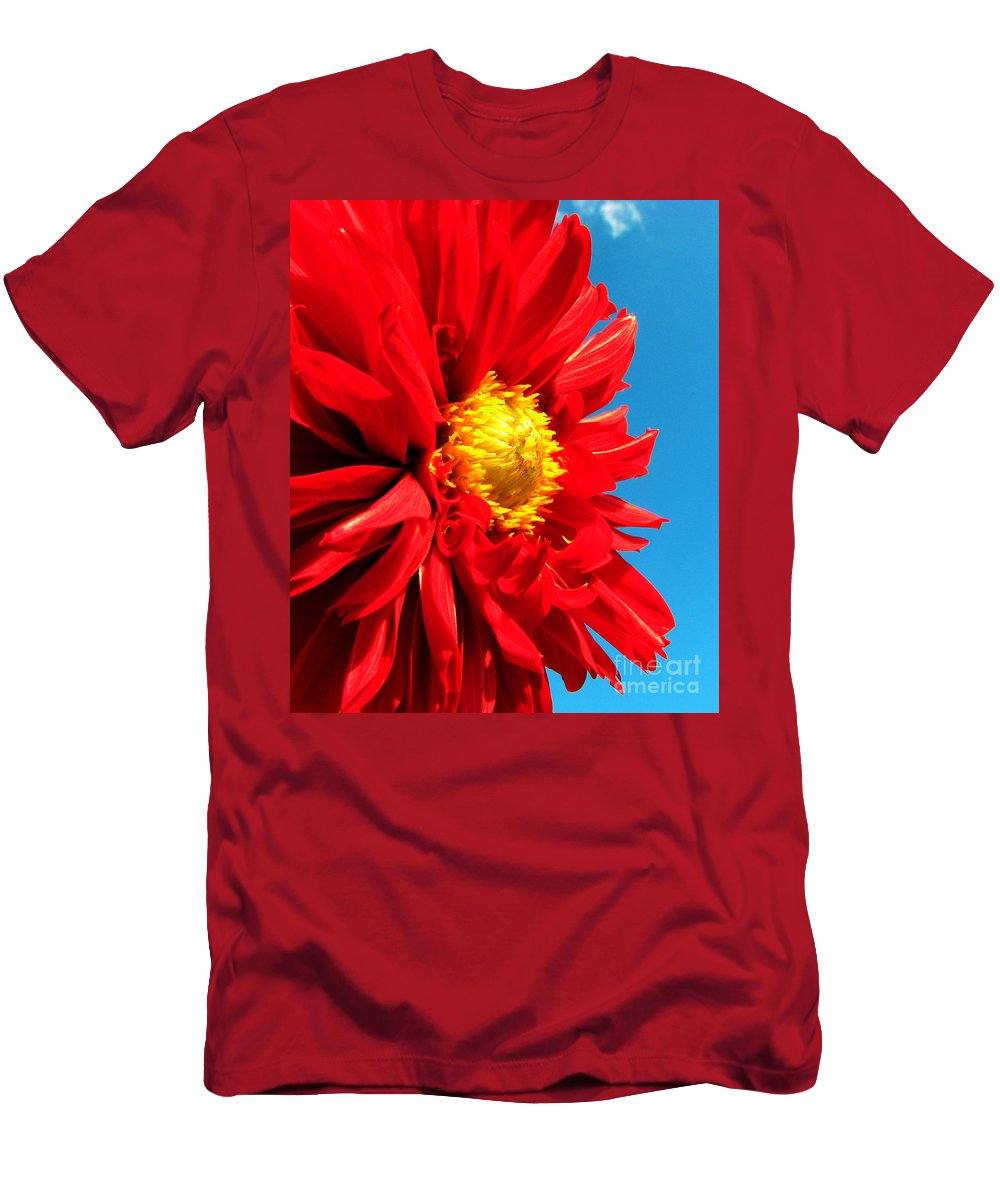 Dhalia Men's T-Shirt (Athletic Fit) featuring the photograph Ready For The Future by Amanda Barcon