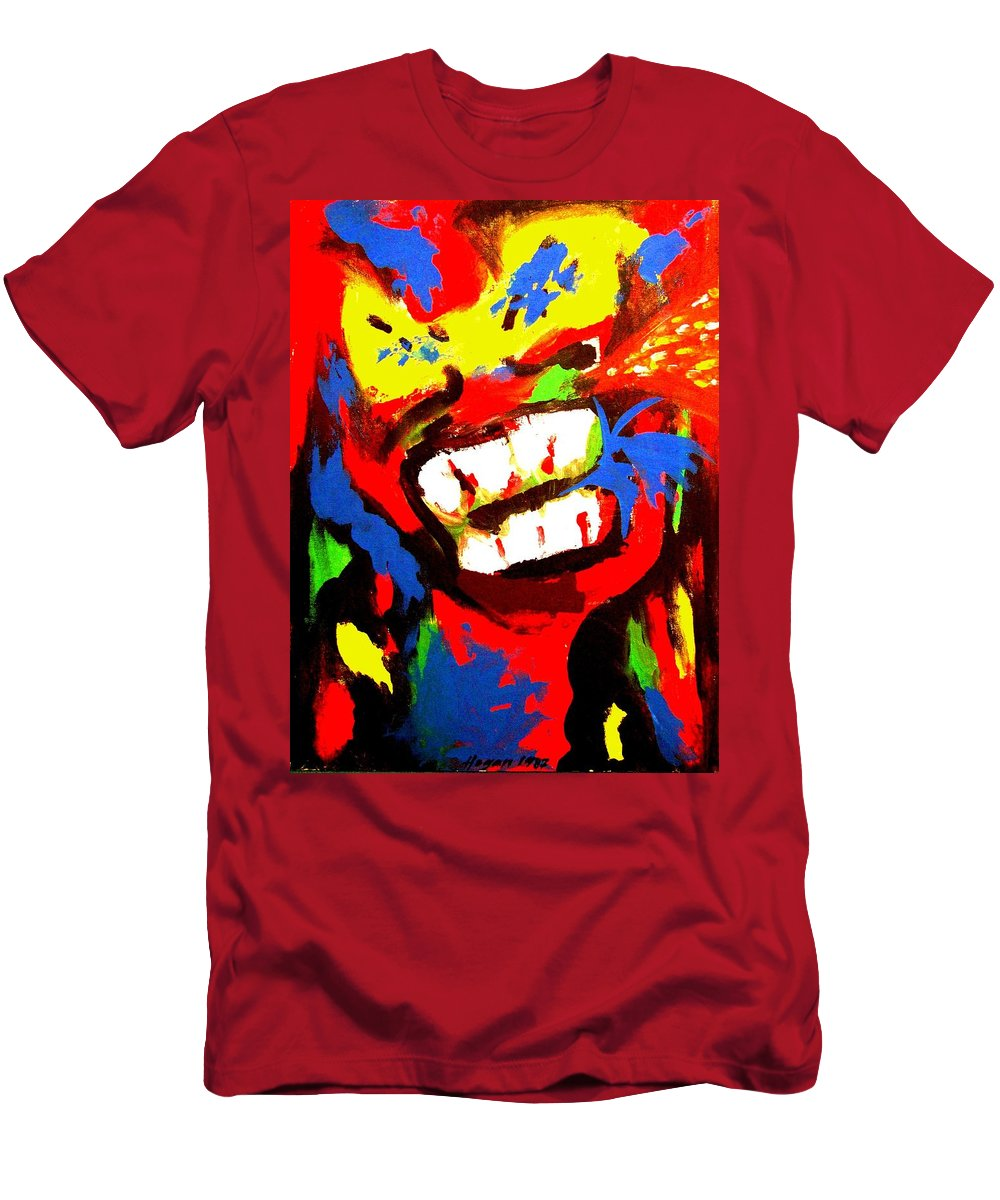 Teenager Men's T-Shirt (Athletic Fit) featuring the painting Rebel Rebel by Alan Hogan