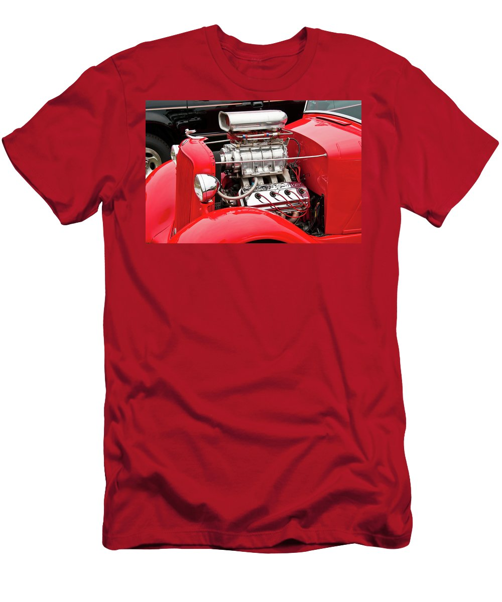 Antique Car Men's T-Shirt (Athletic Fit) featuring the photograph Red 1992 by Guy Whiteley