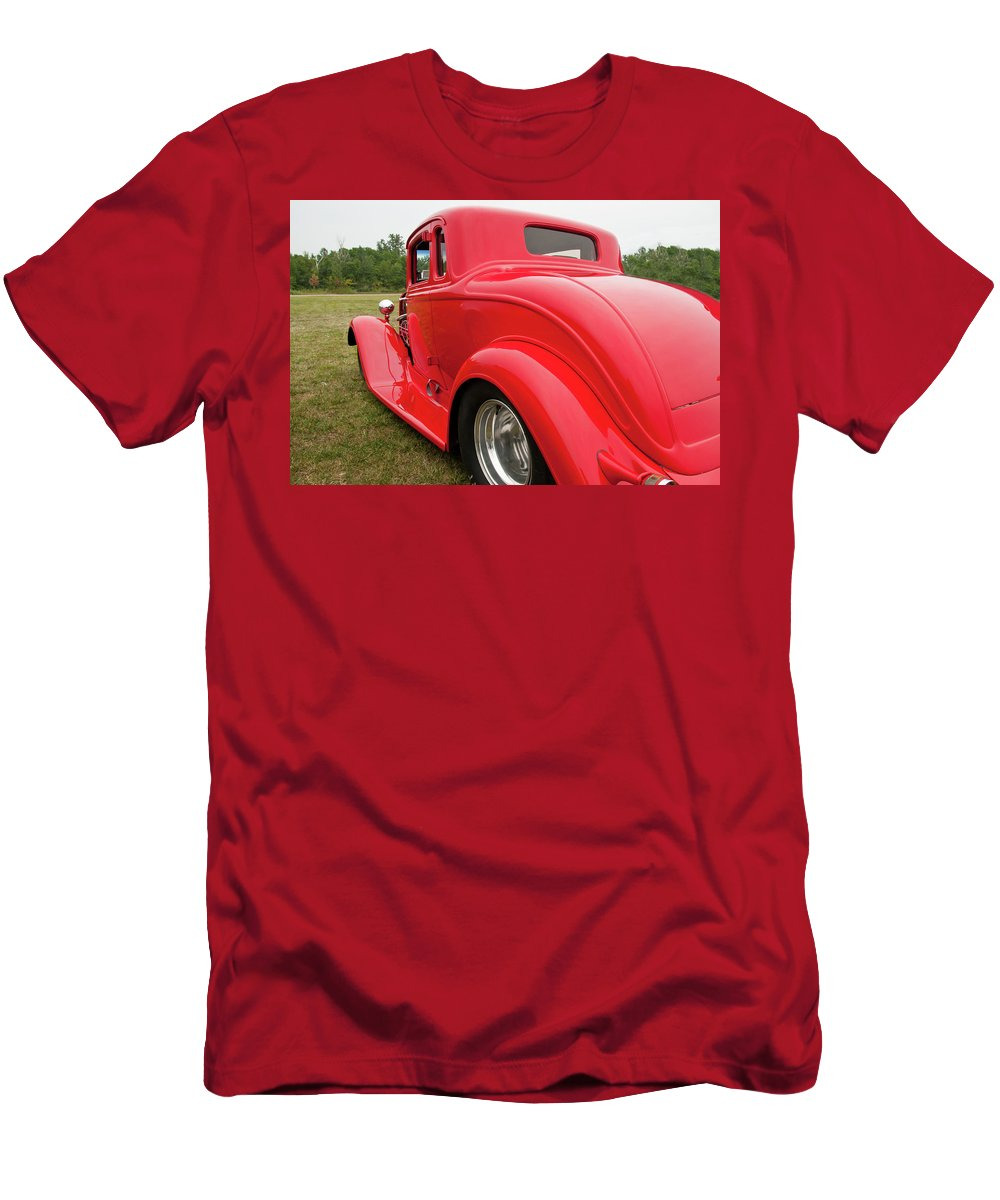 Antique Car Men's T-Shirt (Athletic Fit) featuring the photograph Red 1994 by Guy Whiteley