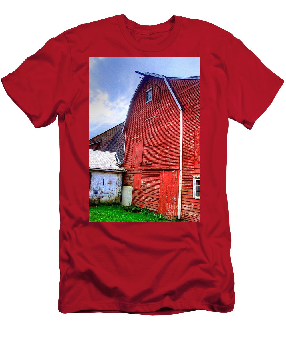 Related Tags: Men's T-Shirt (Athletic Fit) featuring the photograph Red Barn by Robert Pearson