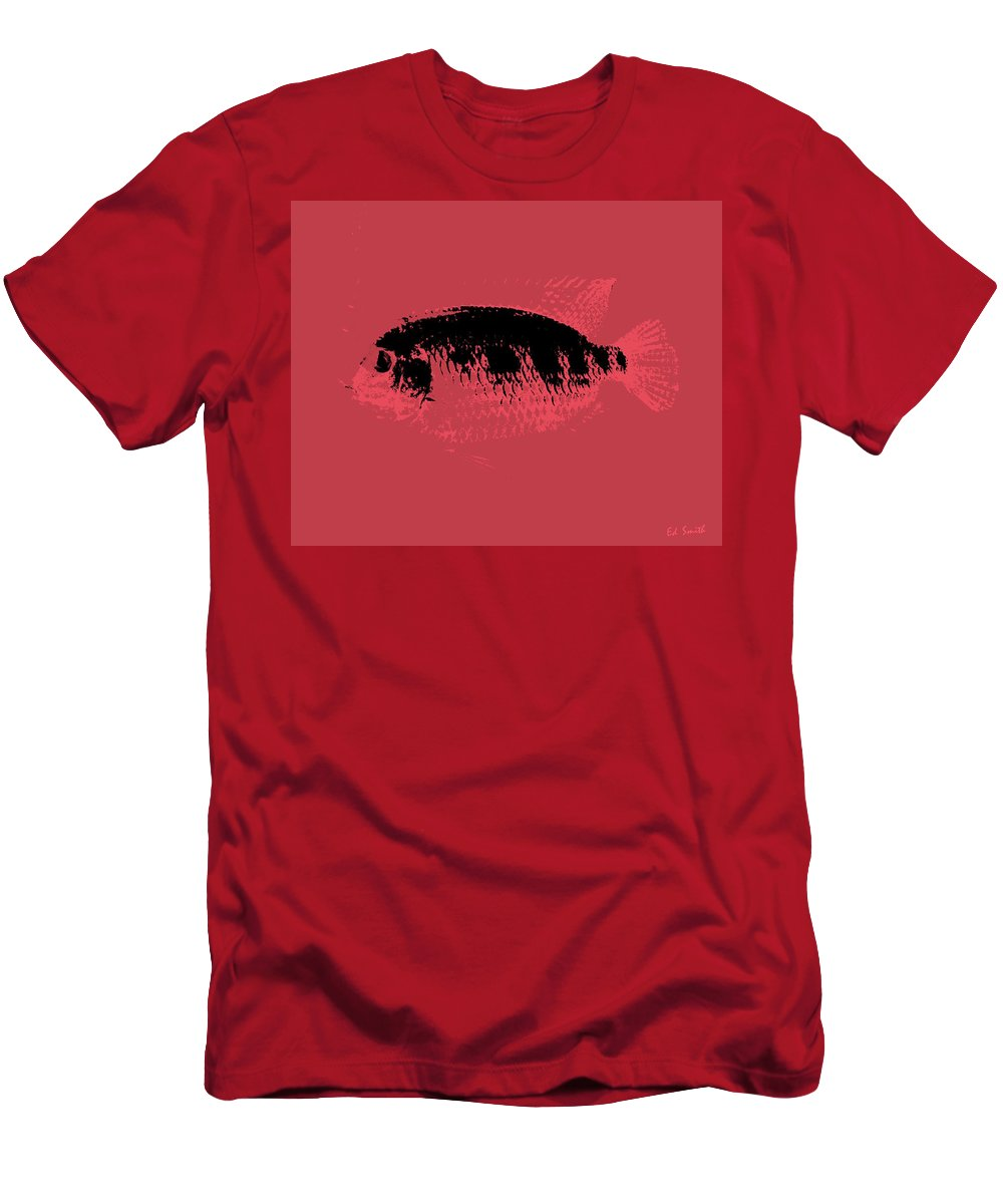 Red Fish Men's T-Shirt (Athletic Fit) featuring the photograph Red Fish by Ed Smith