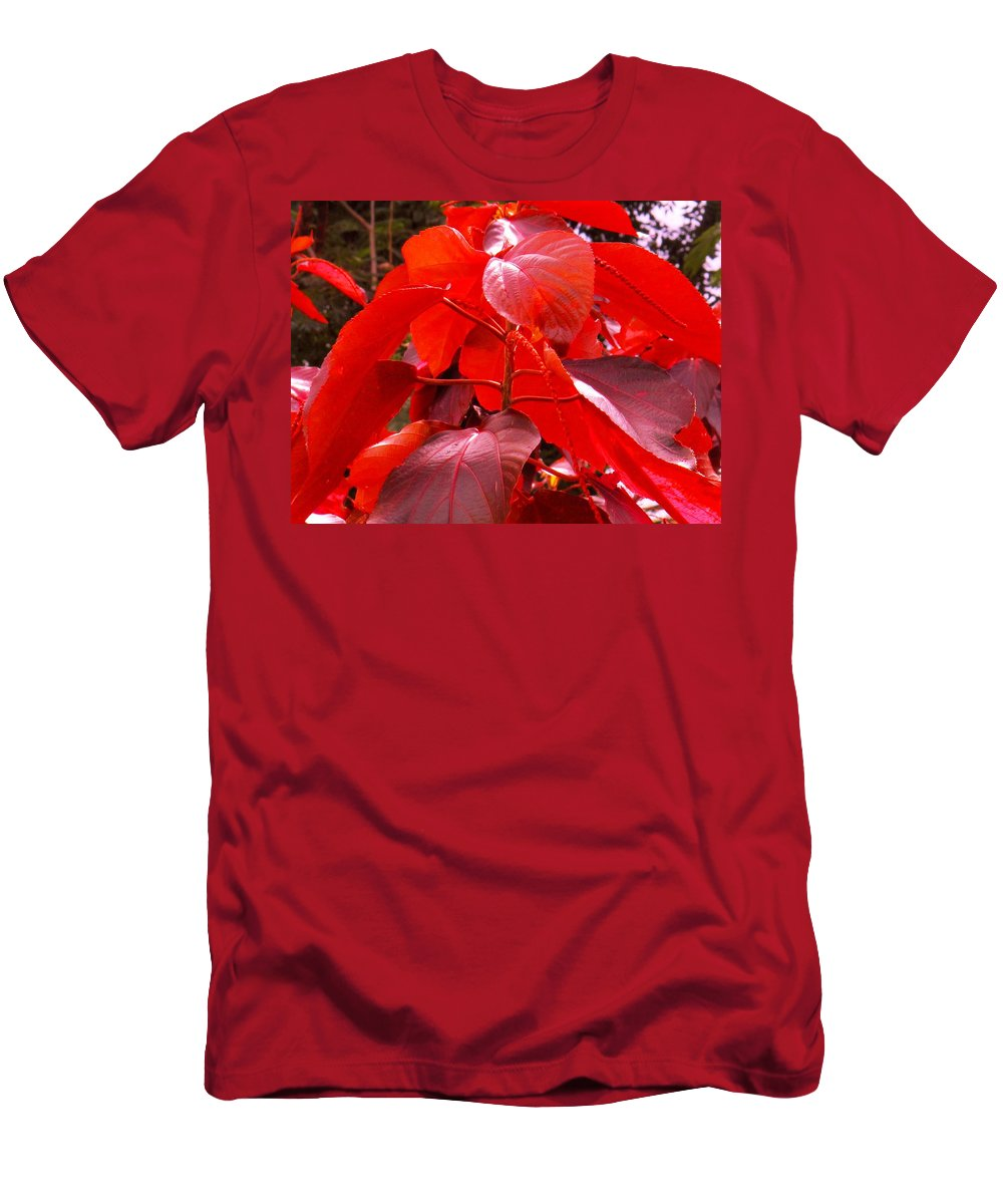 Red Men's T-Shirt (Athletic Fit) featuring the photograph Red by Ian MacDonald