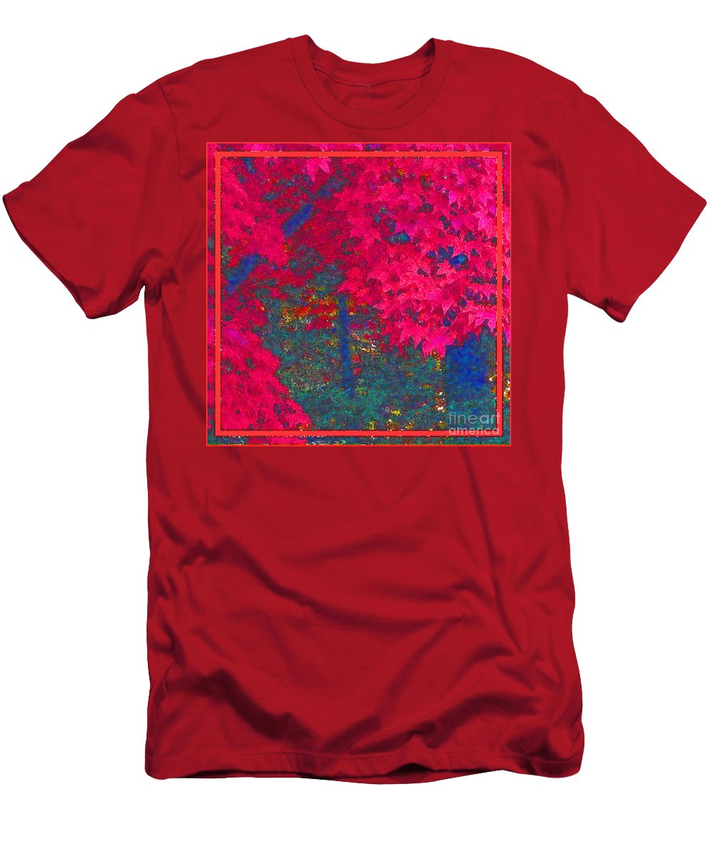 Maple Tree Men's T-Shirt (Athletic Fit) featuring the photograph Red Maple 1 by Melissa A Benson