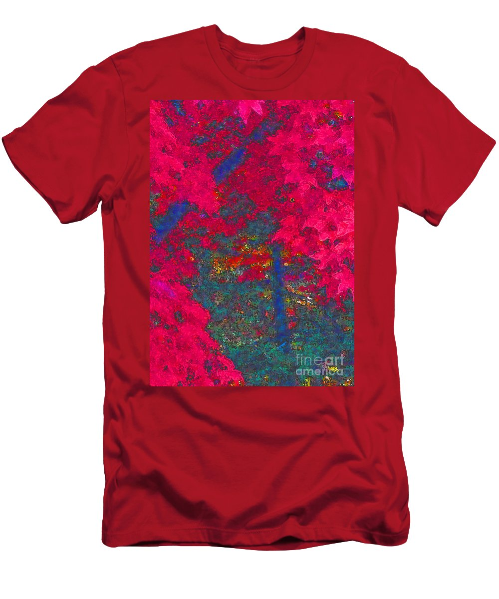 Maple Tree Men's T-Shirt (Athletic Fit) featuring the photograph Red Maple 1 Version 1 by Melissa A Benson