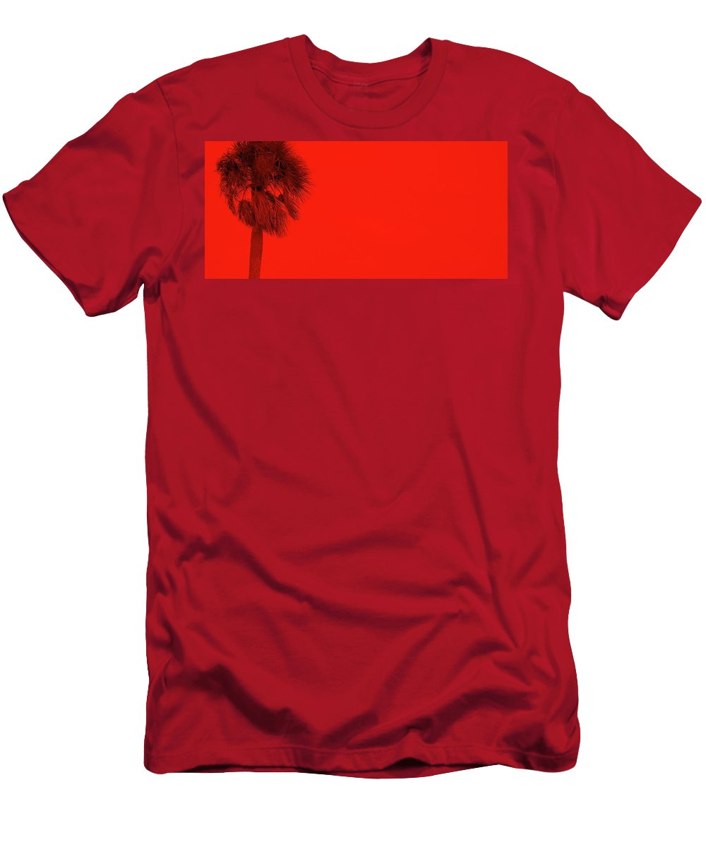 Landscape Men's T-Shirt (Athletic Fit) featuring the photograph Red Palm by Ed Smith