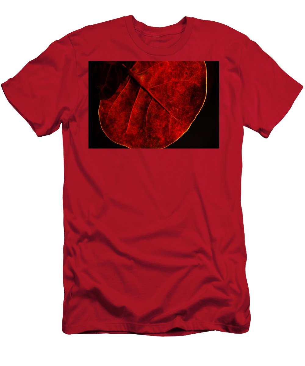 Sea Grape Men's T-Shirt (Athletic Fit) featuring the photograph Red Sea Grape by Susanne Van Hulst
