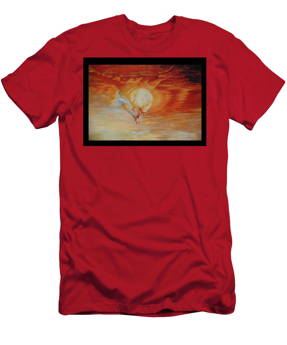 Angels Men's T-Shirt (Athletic Fit) featuring the photograph Red Sky by Rob Hans