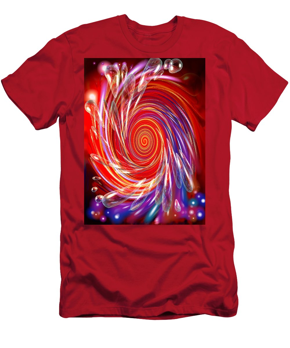 Red Men's T-Shirt (Athletic Fit) featuring the digital art Red Twirl by Natalie Holland