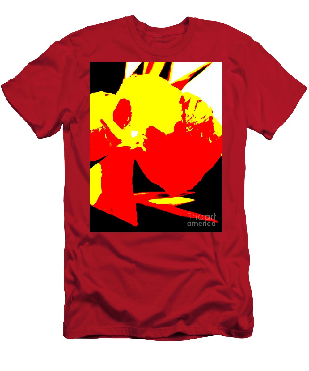 Abstract Men's T-Shirt (Athletic Fit) featuring the photograph Red Yellow Abstract by Eric Schiabor