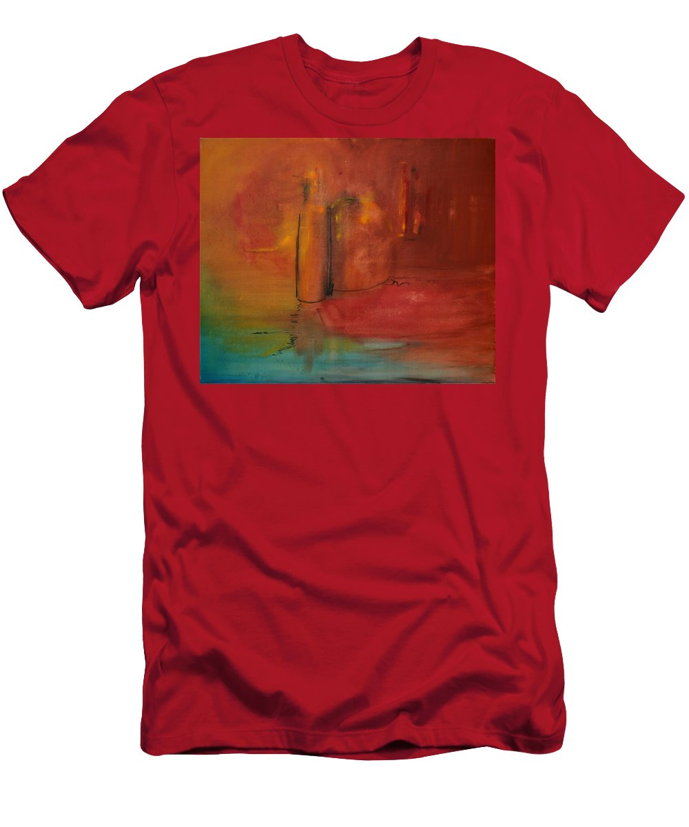 Still Men's T-Shirt (Athletic Fit) featuring the painting Reflection Of Still Life by Jack Diamond