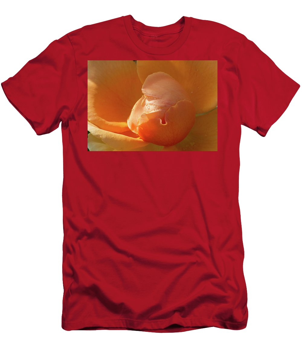 Rose Men's T-Shirt (Athletic Fit) featuring the photograph Refreshing by Phyllis Denton