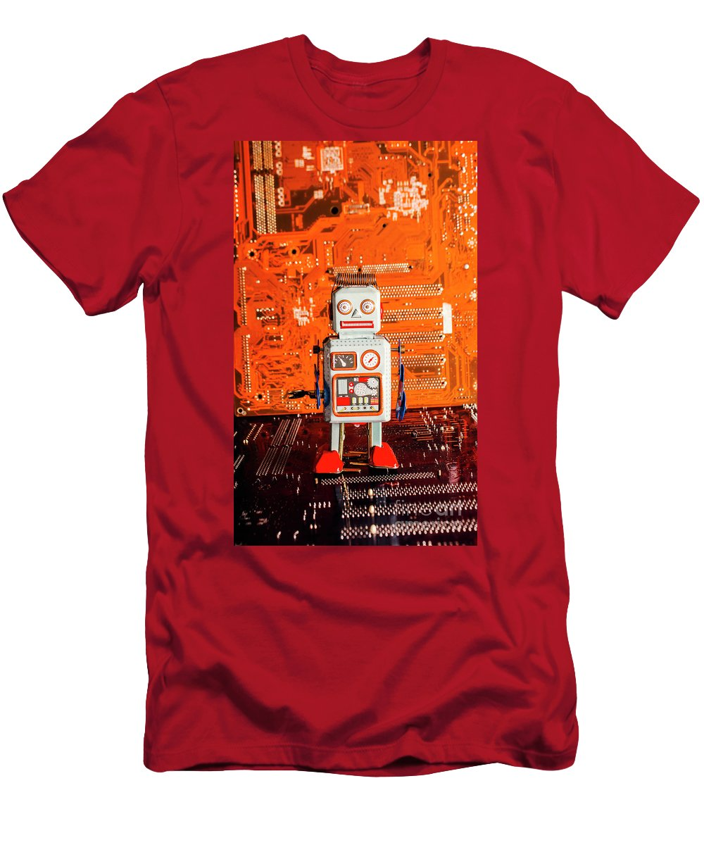 Board Men's T-Shirt (Athletic Fit) featuring the photograph Retro Robotic Nostalgia by Jorgo Photography - Wall Art Gallery