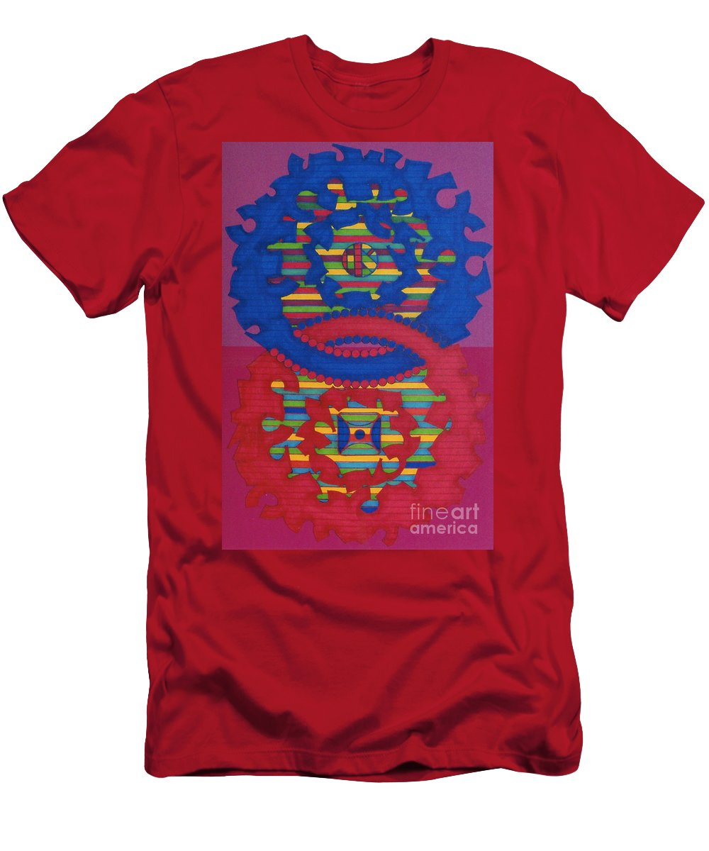 Purple Haze Men's T-Shirt (Athletic Fit) featuring the drawing Rfb0418 by Robert F Battles