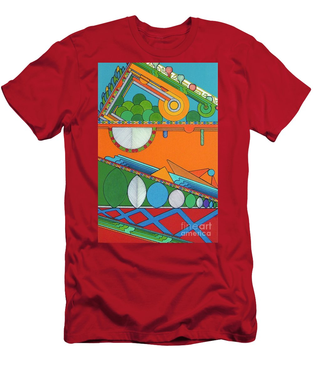 Underground Abstract Men's T-Shirt (Athletic Fit) featuring the drawing Rfb0425 by Robert F Battles