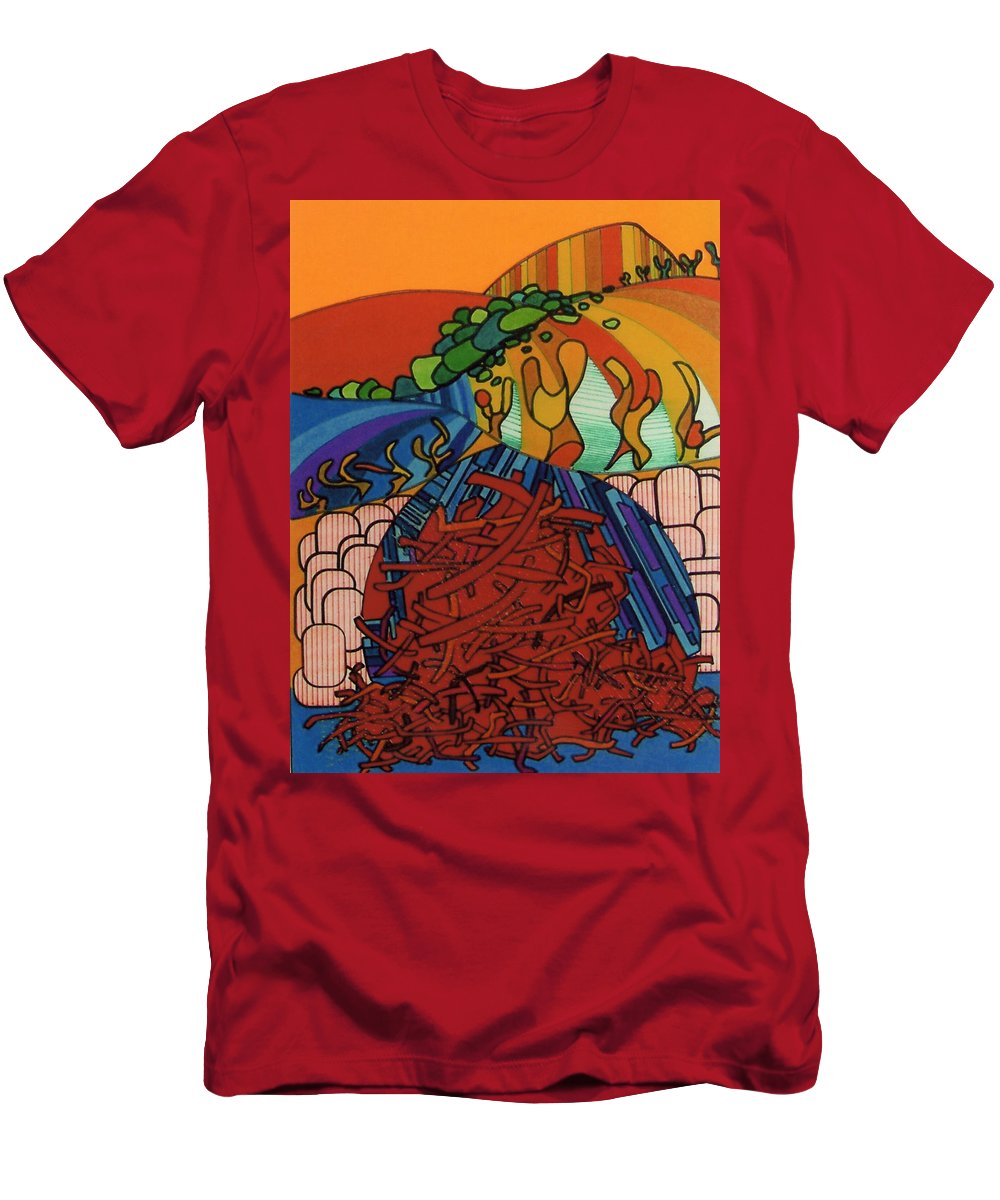 Sand Wanderer Men's T-Shirt (Athletic Fit) featuring the drawing Rfb0531 by Robert F Battles