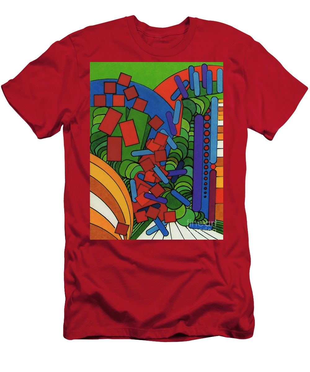 Abstract Alleyway Men's T-Shirt (Athletic Fit) featuring the drawing Rfb0543 by Robert F Battles