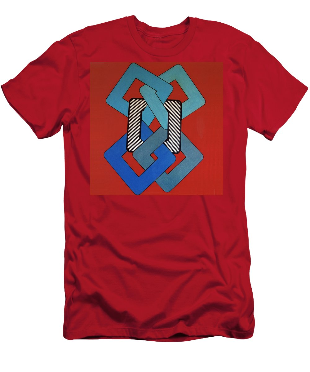 Looped Men's T-Shirt (Athletic Fit) featuring the drawing Rfb0621 by Robert F Battles