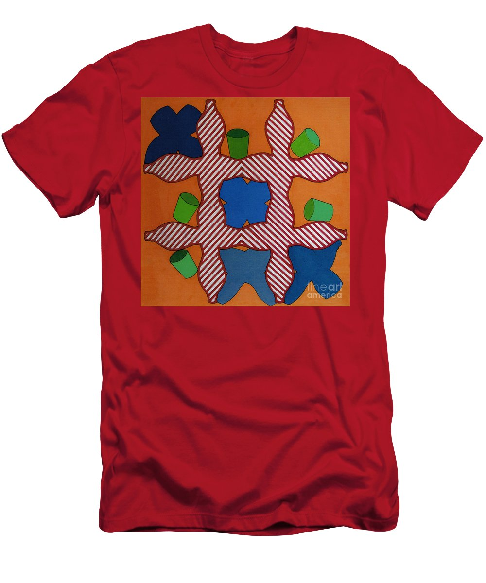 Tic-tac-toe Men's T-Shirt (Athletic Fit) featuring the drawing Rfb0806 by Robert F Battles