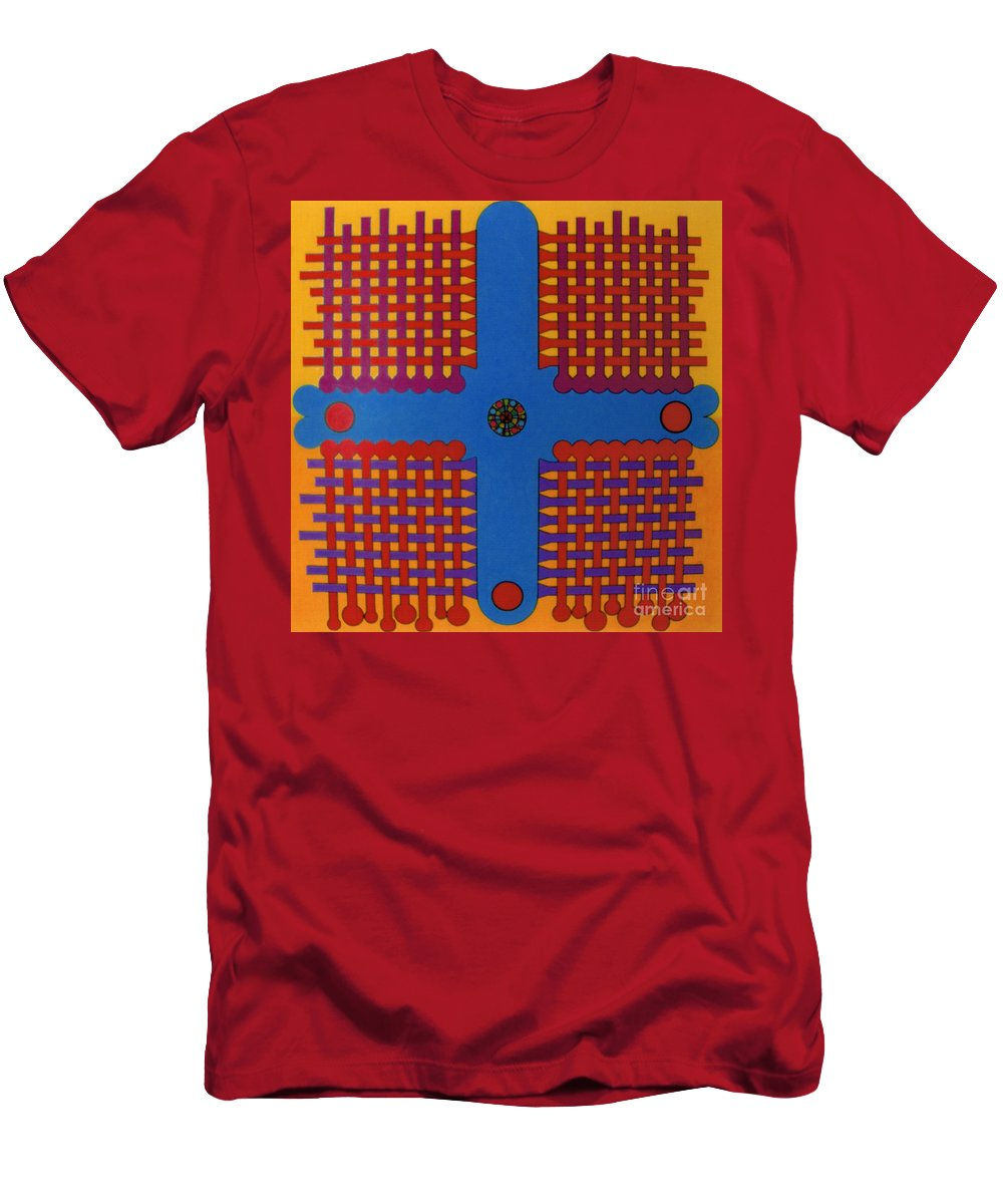 Woven Cross Men's T-Shirt (Athletic Fit) featuring the drawing Rfb0807 by Robert F Battles