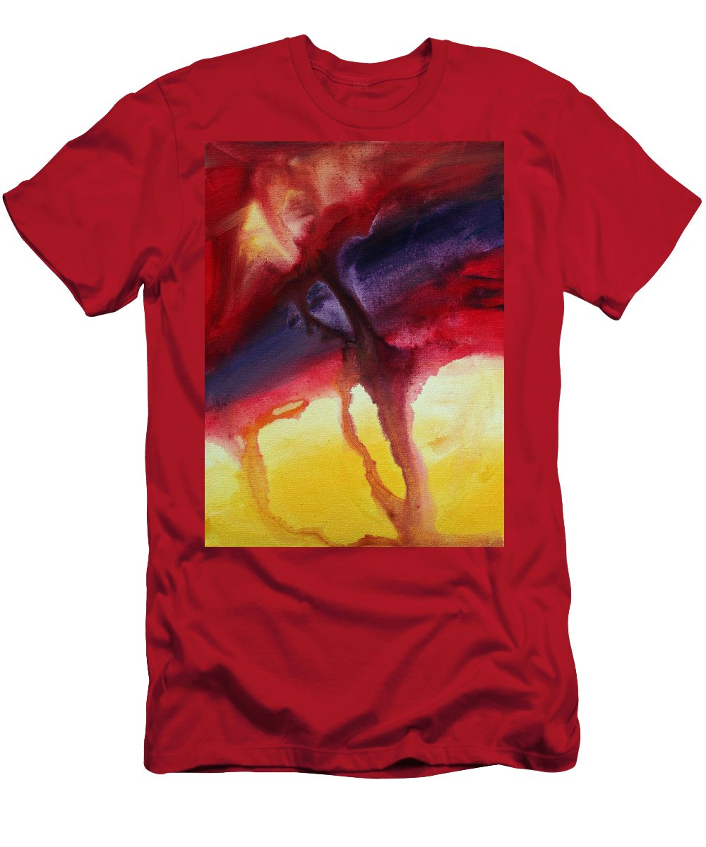 Painting Men's T-Shirt (Athletic Fit) featuring the painting River Of Dreams 1 By Madart by Megan Duncanson