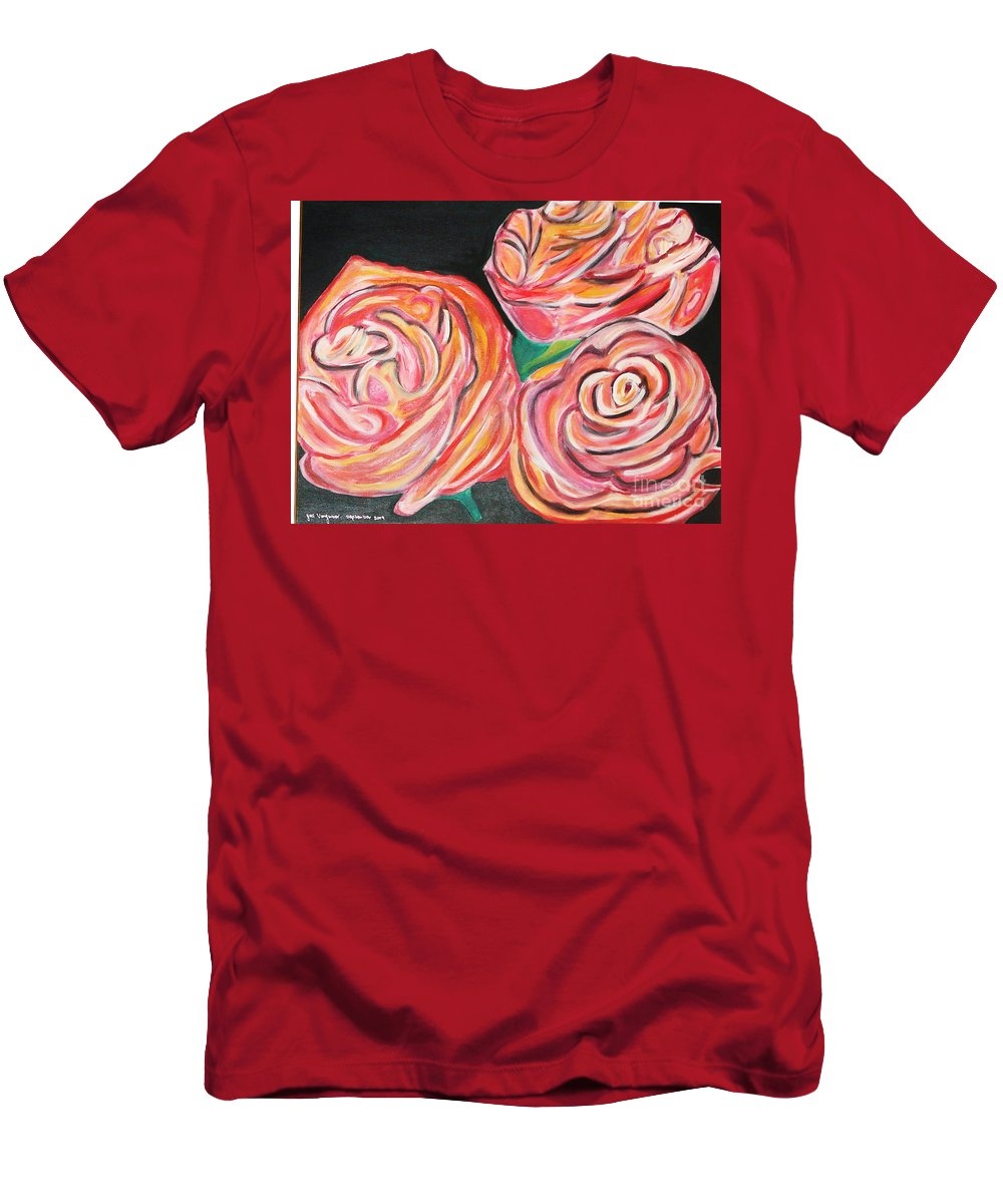 Acrylic Painting Men's T-Shirt (Athletic Fit) featuring the painting Romantic by Yael VanGruber