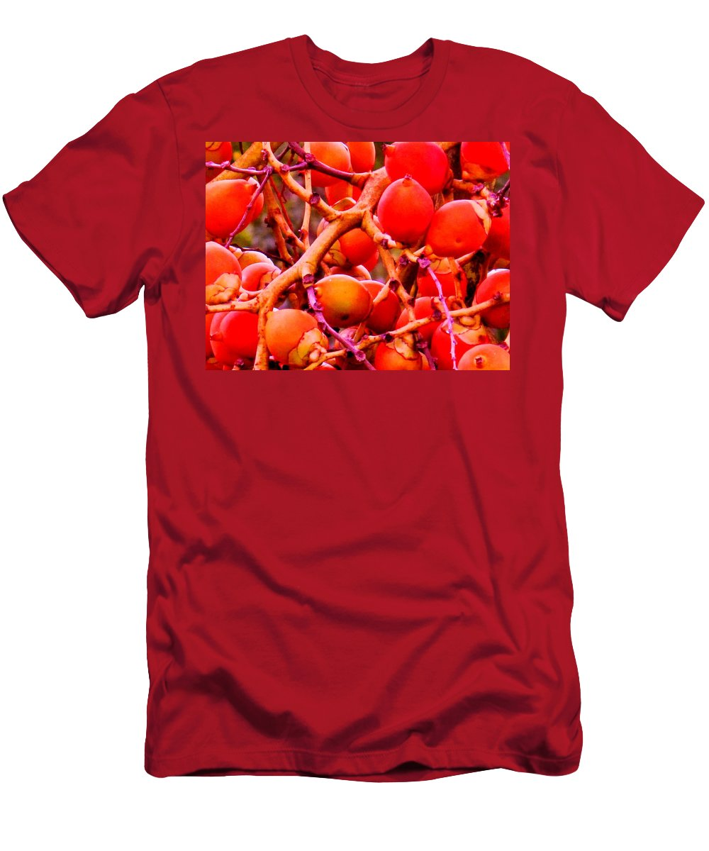 Red Men's T-Shirt (Athletic Fit) featuring the photograph Romney Red by Ian MacDonald