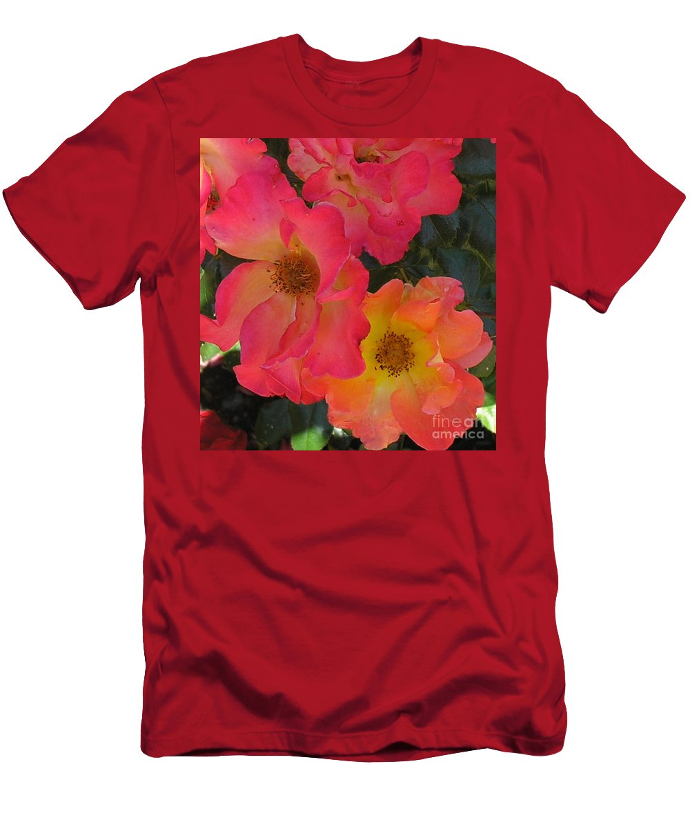Rose Men's T-Shirt (Athletic Fit) featuring the photograph Roses by Dean Triolo