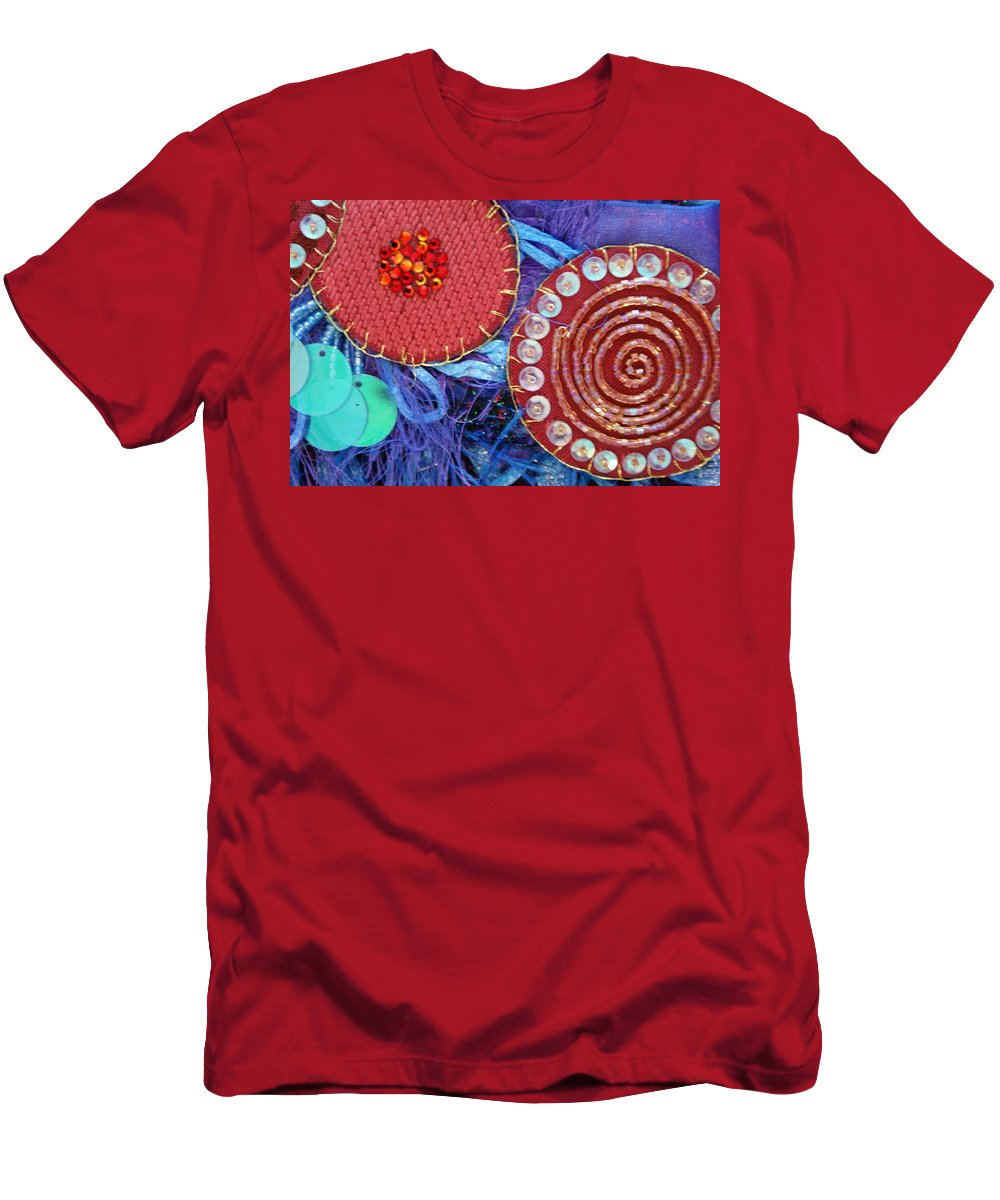 Men's T-Shirt (Athletic Fit) featuring the mixed media Ruby Slippers 5 by Judy Henninger