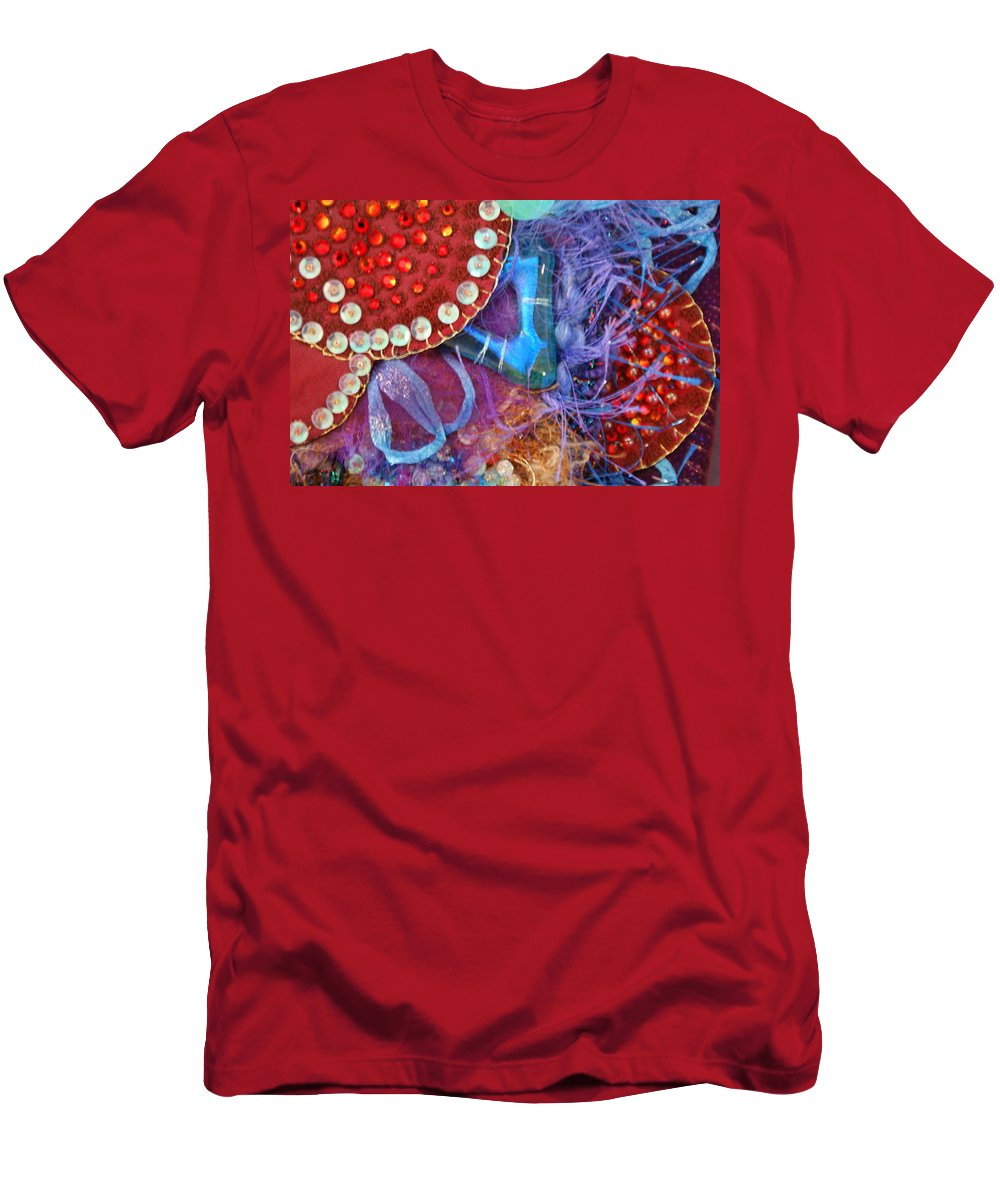 Men's T-Shirt (Athletic Fit) featuring the mixed media Ruby Slippers 7 by Judy Henninger