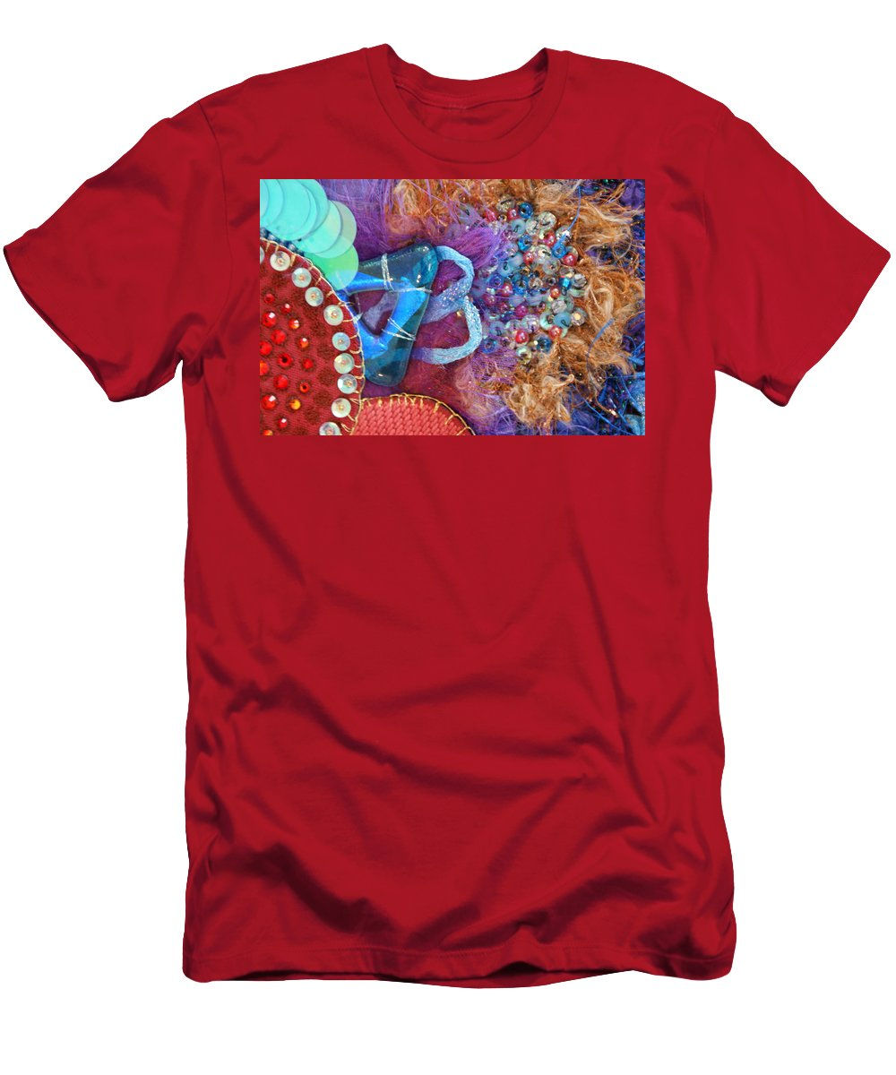 Men's T-Shirt (Athletic Fit) featuring the mixed media Ruby Slippers 8 by Judy Henninger