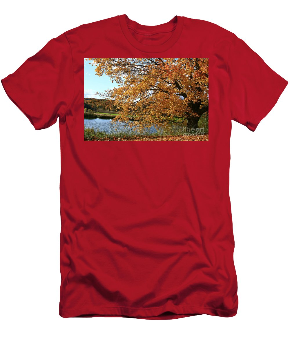 Rural Men's T-Shirt (Athletic Fit) featuring the photograph Rural Autumn Country Beauty by Deborah Benoit