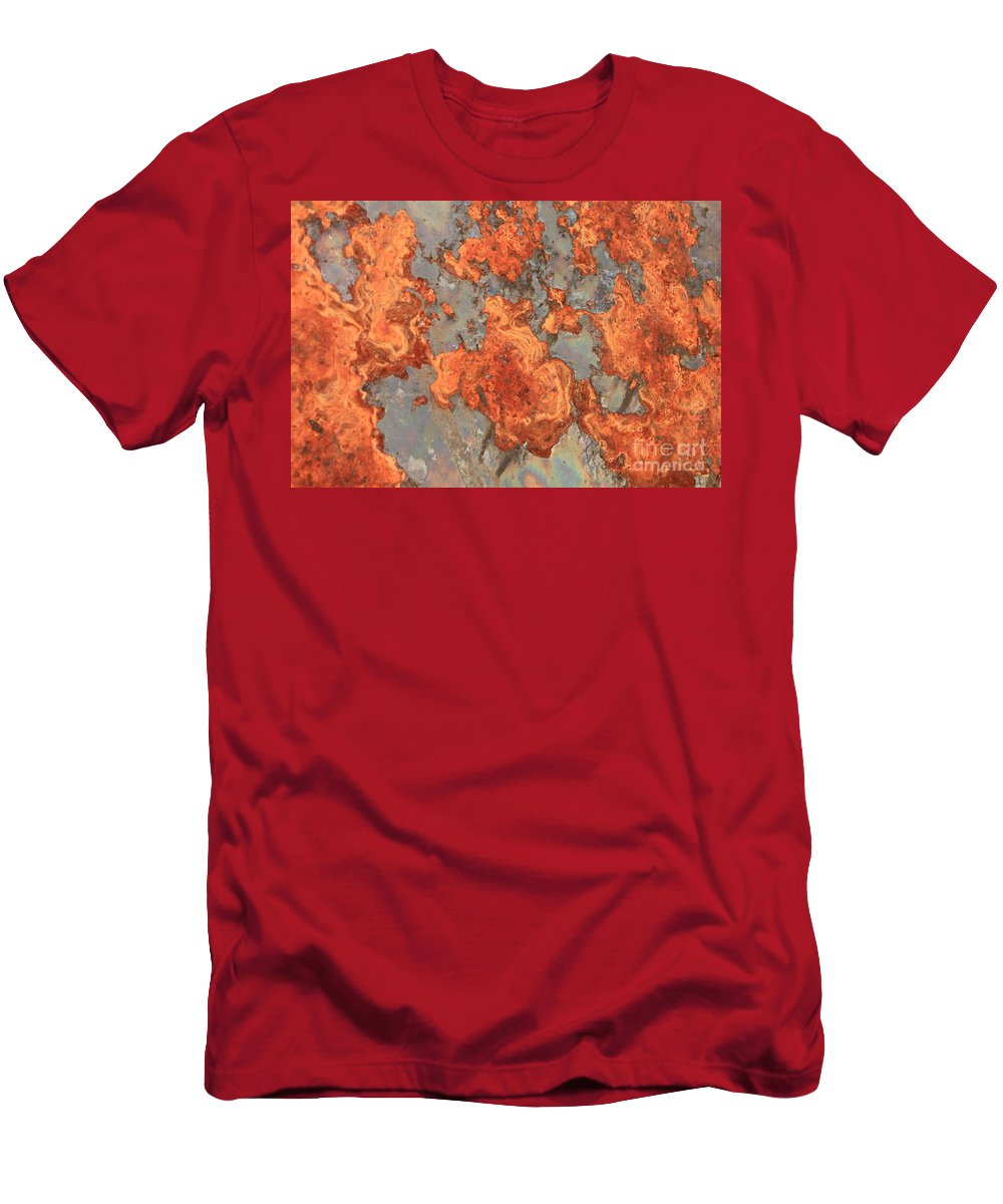 Rust Men's T-Shirt (Athletic Fit) featuring the photograph Rust Art by Carol Groenen