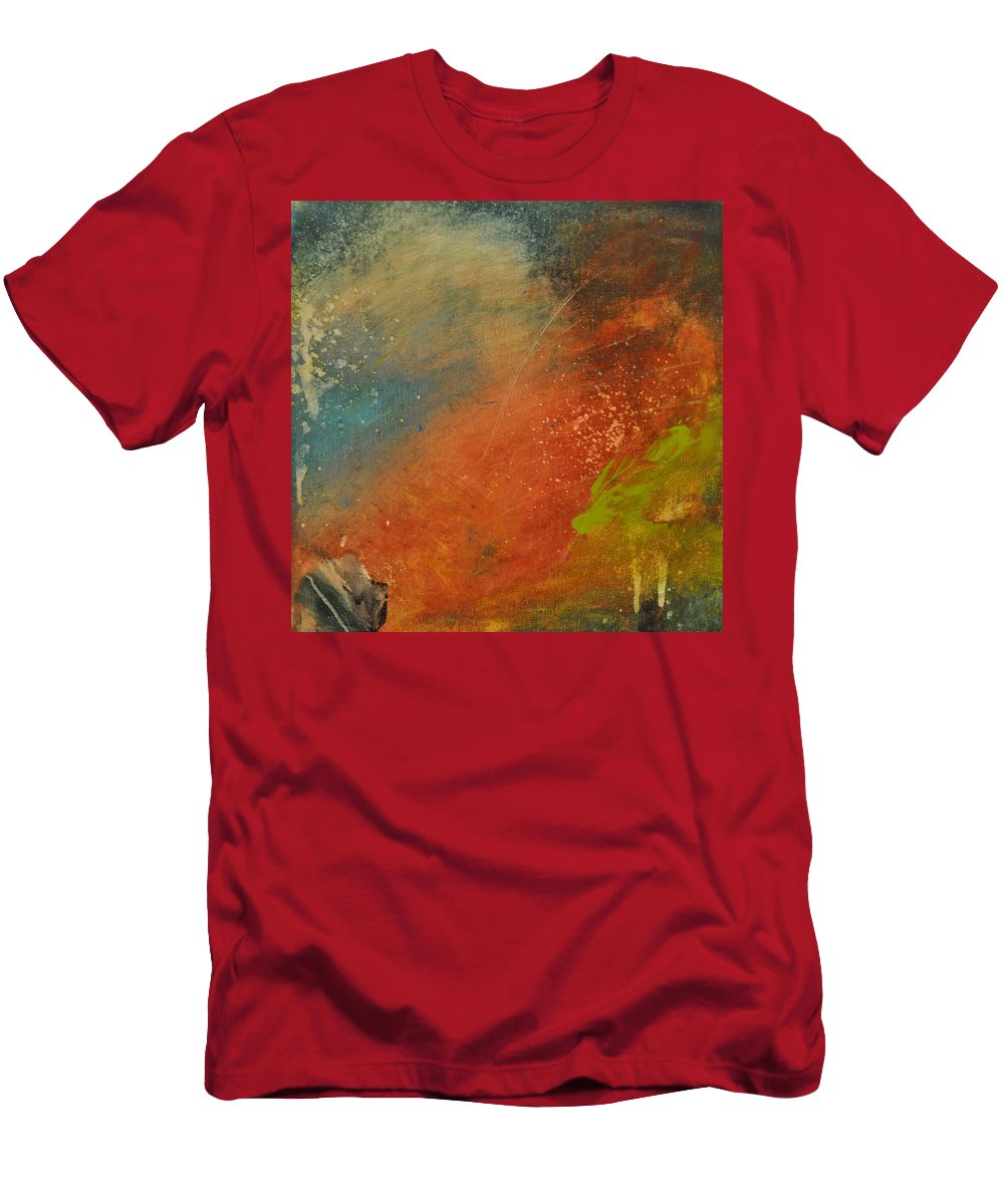 Abstract Men's T-Shirt (Athletic Fit) featuring the painting Rusted Nova by Tim Nyberg
