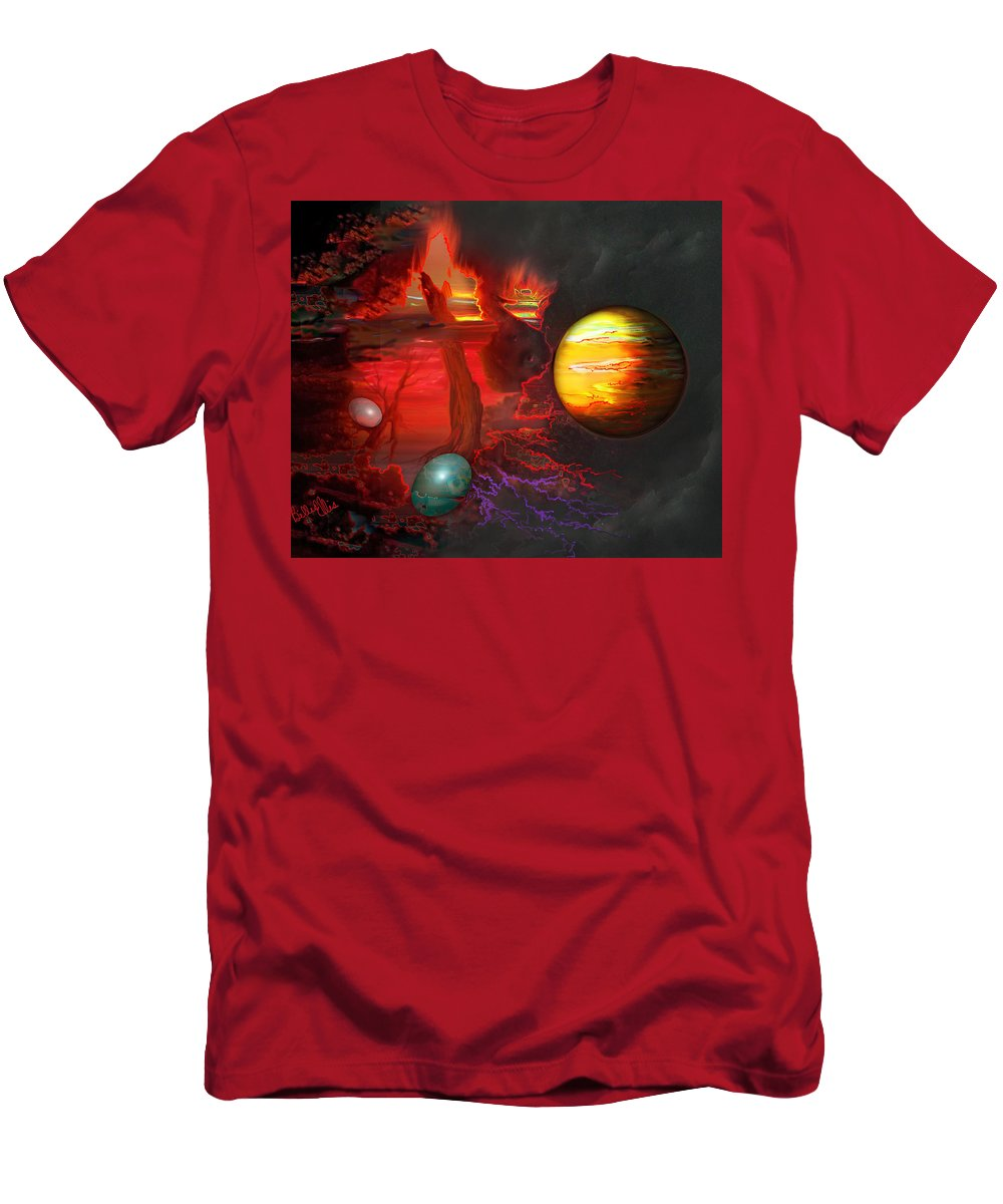 Universe Men's T-Shirt (Athletic Fit) featuring the digital art Seeds Of The Universe by Billie Jo Ellis