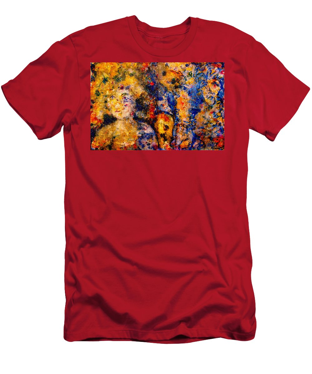 Expressionism Men's T-Shirt (Athletic Fit) featuring the painting Seeking Wanderers by Natalie Holland