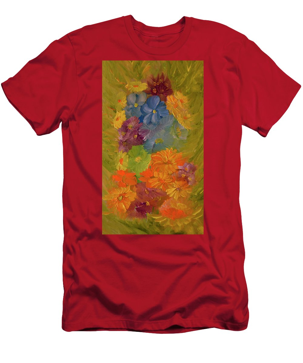 Flowers Men's T-Shirt (Athletic Fit) featuring the painting September Song by Radu Rascanu