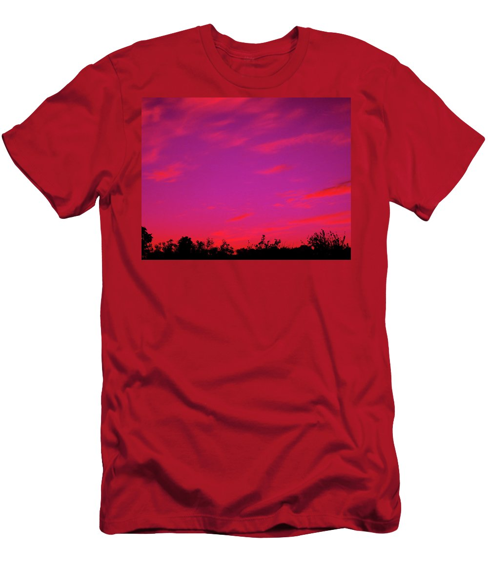 Sunrise Men's T-Shirt (Athletic Fit) featuring the photograph Serene Sunrise by Mark Blauhoefer