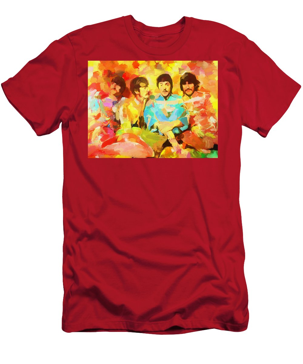 Sgt. Peppers Lonely Hearts T-Shirt featuring the painting Sgt. Peppers Lonely Hearts by Dan Sproul