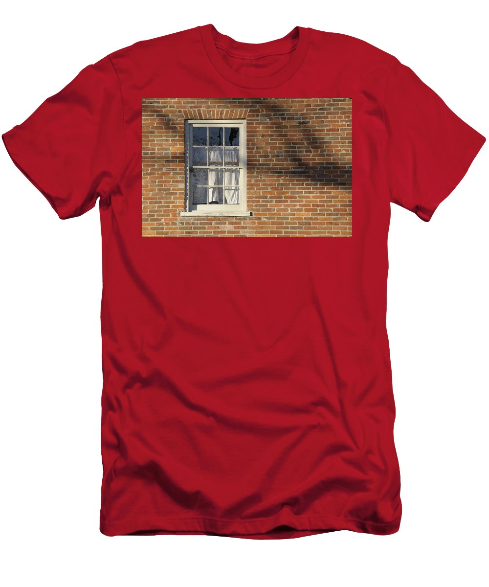Window Men's T-Shirt (Athletic Fit) featuring the photograph Shadow by David Arment