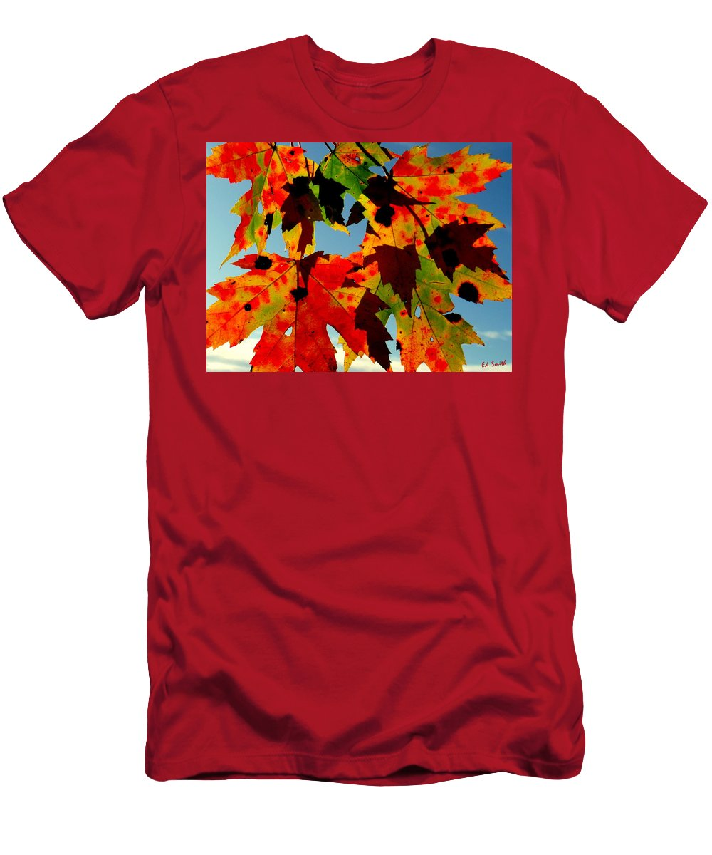 Shadow Play Men's T-Shirt (Athletic Fit) featuring the photograph Shadow Play by Ed Smith