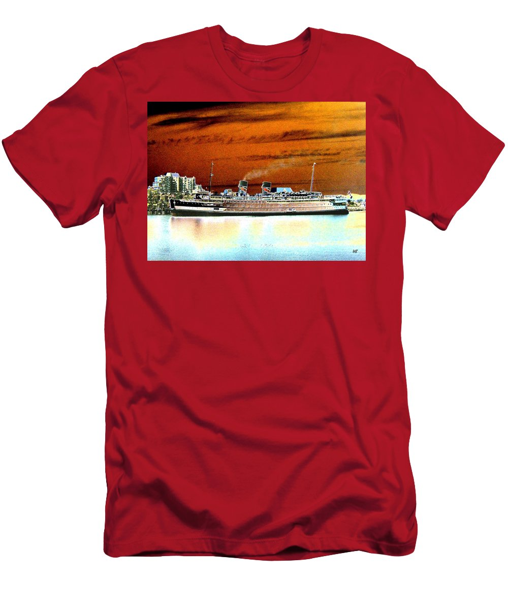 Ship Men's T-Shirt (Athletic Fit) featuring the digital art Shipshape 2 by Will Borden