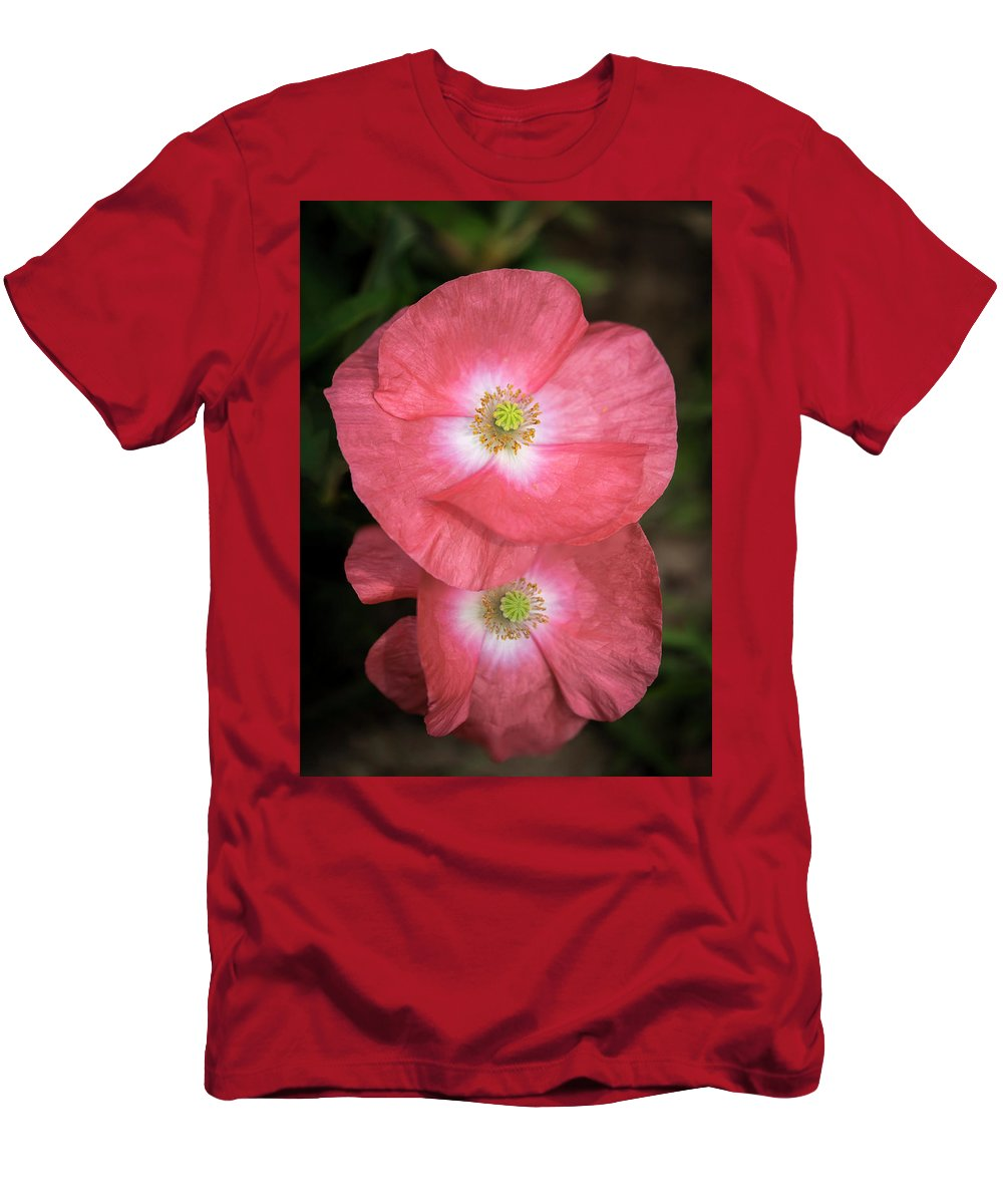 Shirley Poppy Men's T-Shirt (Athletic Fit) featuring the photograph Shirley Poppy 2018-15 by Thomas Young