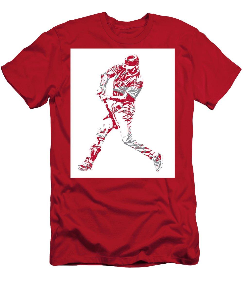 promo code 6d12e c721c Shohei Ohtani Los Angeles Angels Pixel Art 1 Men's T-Shirt (Athletic Fit)
