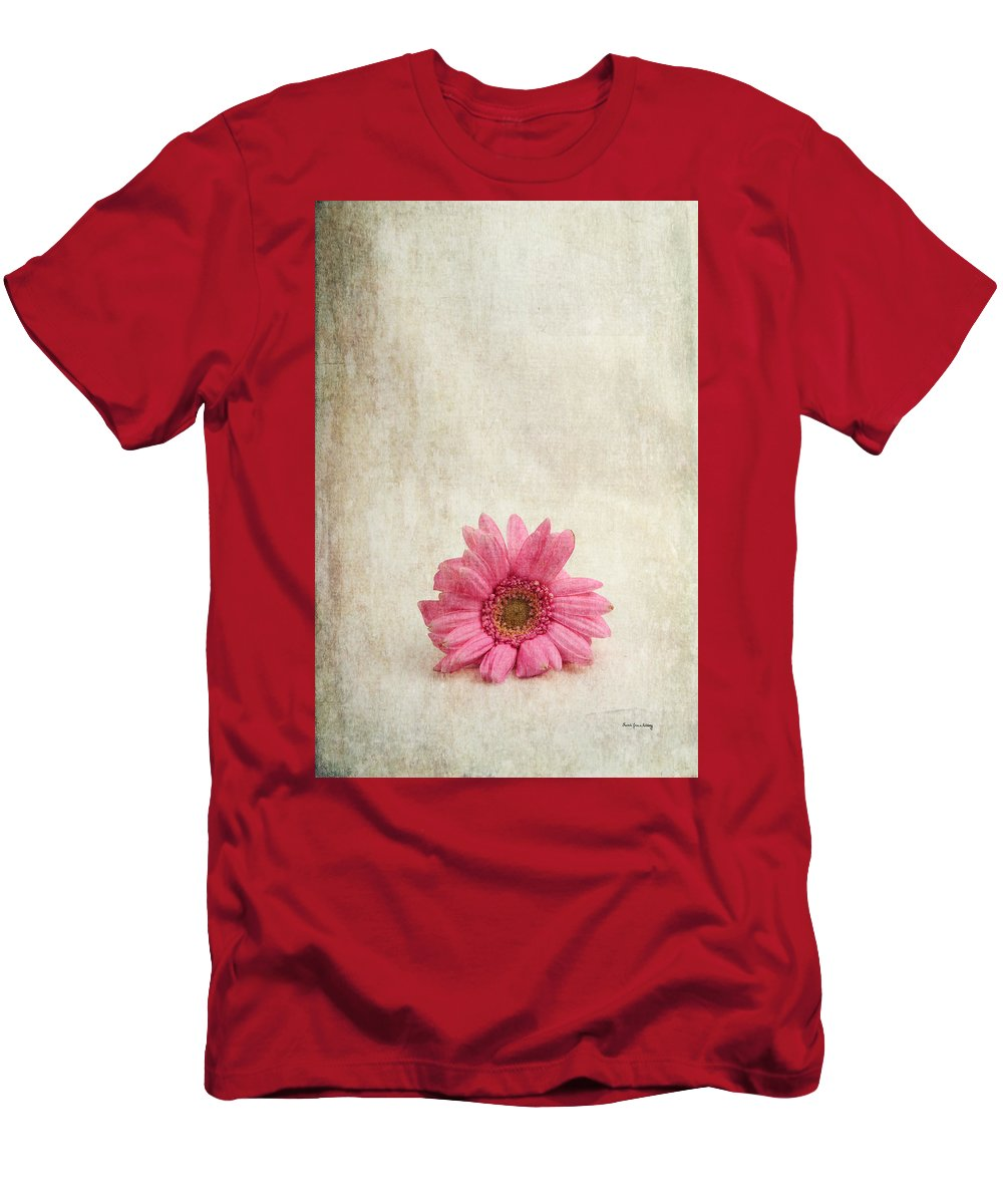 Textures Men's T-Shirt (Athletic Fit) featuring the photograph Single Pink by Randi Grace Nilsberg