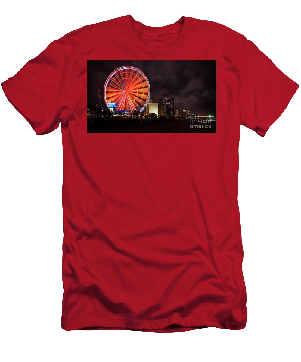Skywheel Men's T-Shirt (Athletic Fit) featuring the photograph Skywheel by Jacque Weir