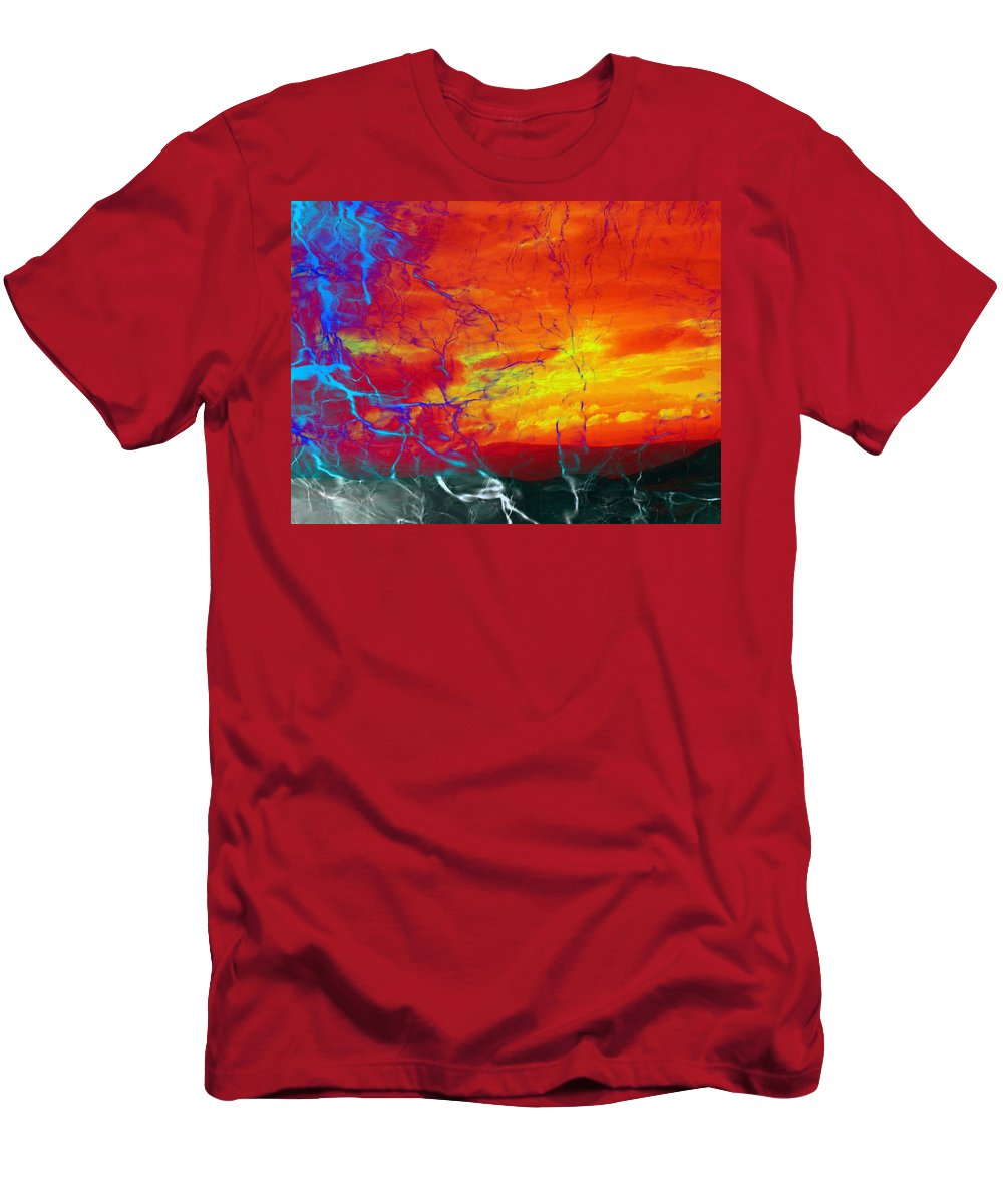Digital Men's T-Shirt (Athletic Fit) featuring the photograph Smoke by Munir Alawi