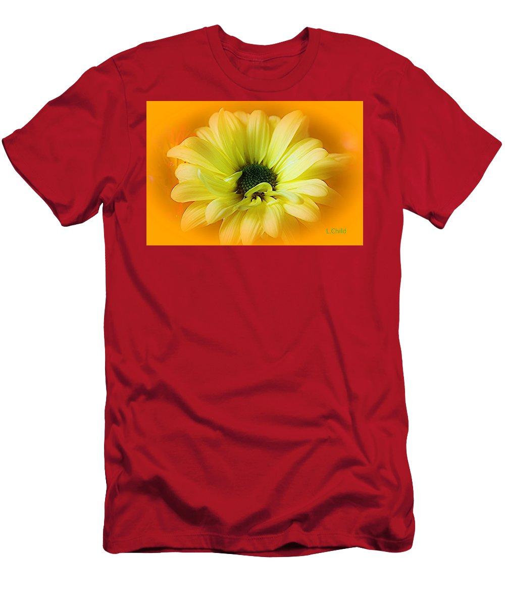 Botanical Men's T-Shirt (Athletic Fit) featuring the photograph Sodden Petals  by Lori Mahaffey